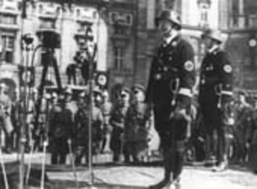 Himmler on Heldenplatz (photo: DÖW)