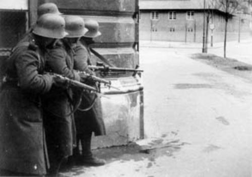 Bundesheerpatroillie in Heiligenstadt